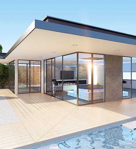 风景区铝系统门窗工程案例